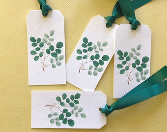 Gift Tags, Tags, Shipping Tags, Clover, Garden
