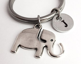 Elephant charm keychain. Elephant keychain. Lucky keychain. Lucky Elephant. Sacred Elephant. Elephant gift. Good luck charm. Gift under 10