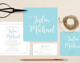 Modern Wedding Invite – Printable Invitation Suite