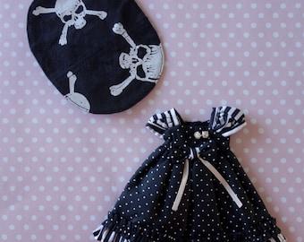 Polka Dot Pirate Girl Dress Set * Blythe * Pullip *