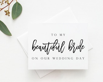 To My Beautiful Bride Card. Wedding Day Card Bride. Card For Bride. To My Bride Card. Bride Card For Wedding Day. Wedding Day Bride Card.