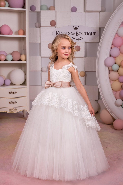 Ivory flower girl dress birthday wedding party holiday zoom ombrellifo Gallery