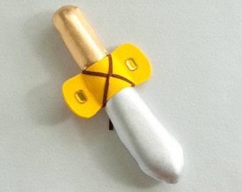 viking dagger for kids, made in foam,lycra, felt and rhinestones, small soft sword for children