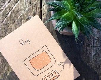 Kraft Blogger Notebook - 100% recycled  - Blog Notes - Blogger Notes - Blogging Journal - Blogging Planner - Kraft Notepad - A6 Notepad