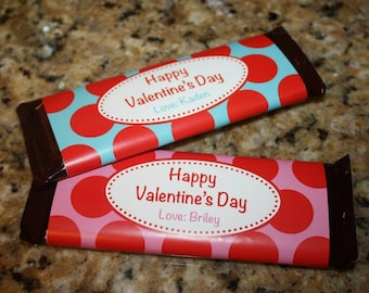 DIY Printable Valentine Candy Bar Wrappers