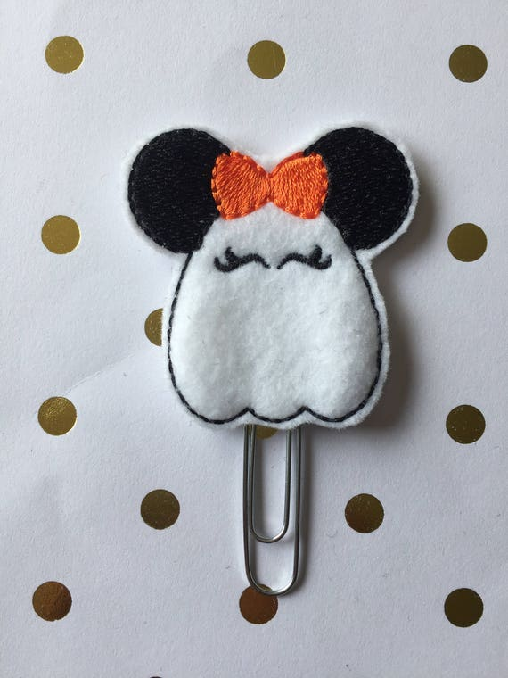 Girl Mouse Ghost planner Clip/Bookmark. Character Planner Clip. Mouse Planner Clip. Girl Mouse Planner clip. Halloween Planner clip