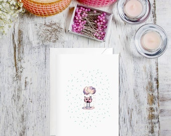 Tiny Bird Greetings Card