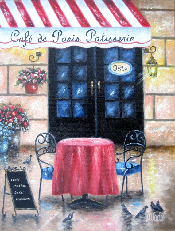 french cafe art print cafe coffee shop bistro paintings