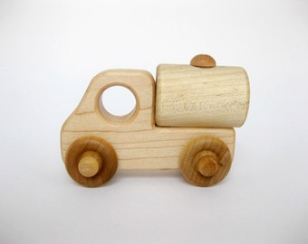 Wooden Toy Tanker Truck, little wood toy