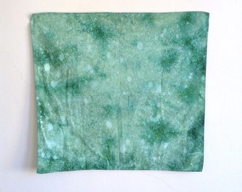 Green Mineral Dyed Handkerchief