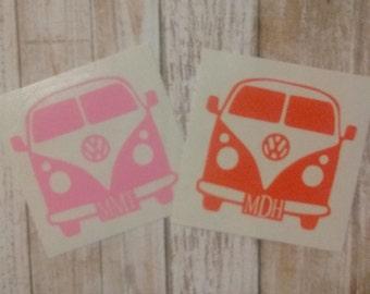 Volkswagen Decal/Super Bug Monogram/VW Monogram/VW Sticker/Monogram/Decal/Vinyl Decal/Hippy Decal/VW Bus/Yeti Cup Decal