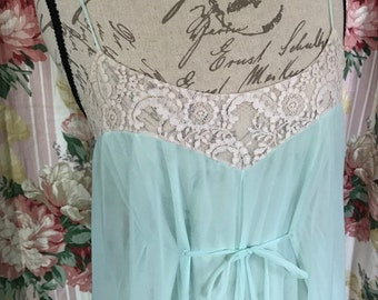 NEW Beautiful Sea-Foam Claire Sandra by Lucie Ann Nightgown