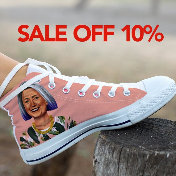 Hillary Converse Shoes Hillary Shoes Top Custom Sneaker Nasty Feminist Clinton Converse Custom Hillary High Custom Clinton Custom Women Bqq0R