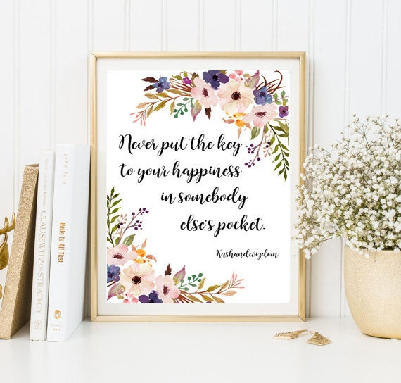 Quote print Calligraphy print framed quotes friend gift