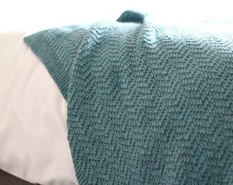 KNITTING PATTERN, Knit Blanket Pattern, Knit Throw Pattern, Baby Blanket Pattern, Knit Baby Blanket, Mabyn Summer Blanket - 5 Sizes