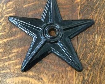 Vintage/Antique Cast Iron Star-Porcelain Coated-Architectural Salvage