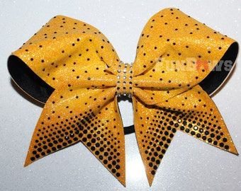 Gorgeous new Rhinestones on Glitter Bow by FunBows !!