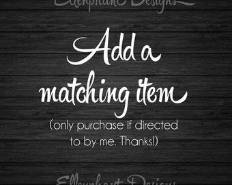 Add a matching item