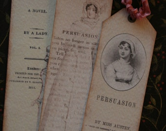 Jane Austen,Persuasion  Bookmarks or tags set of 6