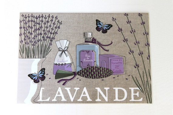 "Laminated placemat ""Lavender"""