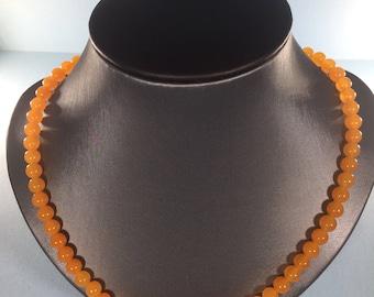 Mothers Day SALE 30% , Orange Aventurine Necklace, Gemstone Necklace, gemstone  ,     April Birthstone  Necklace Birthstone Necklace