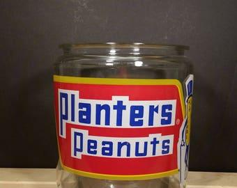 Vintage 1960s Planters Peanuts Counter Jar