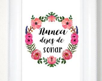 Spanish Printable Quote, Printable Wall Art, Spanish Home Decor, Spanish Printables, Spanish Wall Art, Spanish Quotes