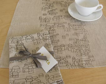Linen Napkin Set - Village
