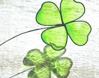 Green clover lucky bookmark for gift good present