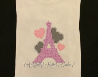 From paris with love applique shirt