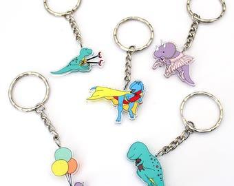 Dinosaur keyring, keyring, dinosaur, kids kerying, acrylic keyring,  Cute Keychain, animal keyring, animal charm, cute keyring, cute charm