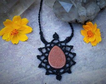 shimmery Goldstone necklace