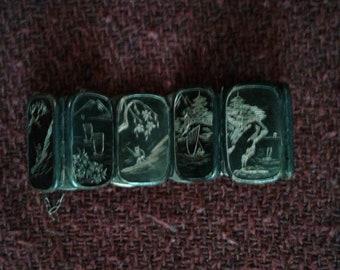 Sterling silver bracelet Asian / Japan design