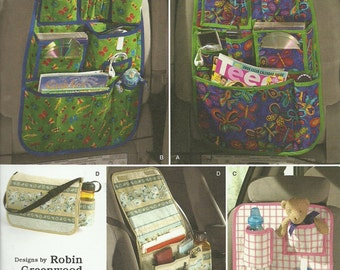 SIMPLICITY PATTERN 2916 car organizers, auto organizers, toy organizers, new and uncut