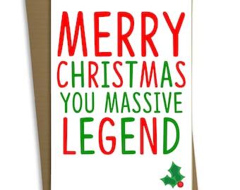 FP0414 Funny Christmas Card Handmade Greetings Card