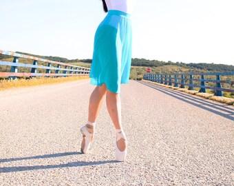 Long ballet skirt, Long women skirt, tulle ballet skirt, ballet skirts, tulle skirt, dancewear, stretch tulle ballet skirt, turqoise skirt