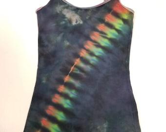 Funky Tie Dye Ladies Tank Top size Small W511