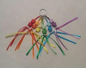 Lucky Star Rainbow Keychain