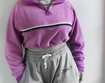 RE WORKED cropped top fleece sweater