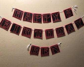 Stranger things birthday banner