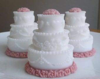 Unique Bridal Shower Favors - Unique Wedding Favors, Wedding Cake Soap Favors, Wedding Favors Soap - Set of 15