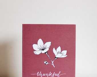 Thankful for You Card - Plum blossoms