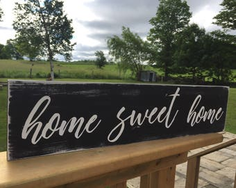 Home sweet home sign, home sign, wood sign, Rustic signs, Home sweet home, farmhouse sign, rustic home decor, gallery wall sign