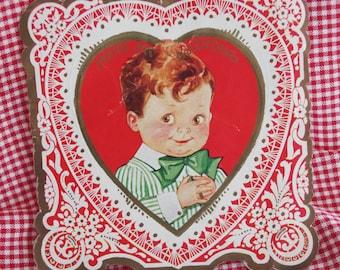 "Vintage Valentine: Chubby Boy ""You're My Valentine"" 1930s"