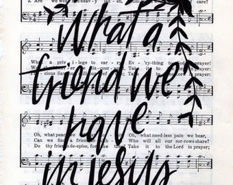 What a Friend We Have in Jesus Hymn Print