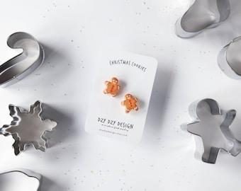 Gingerbread man Brooch - Christmas pins - Set of 2 pins - Christmas gift - Funny pins - food pins - food brooch - Christmas brooch - cookie