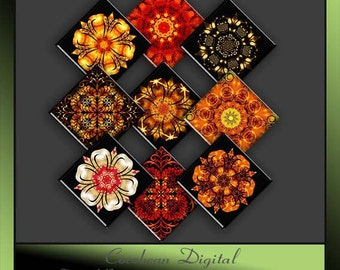 Fire & Lights square tile Collage sheet.