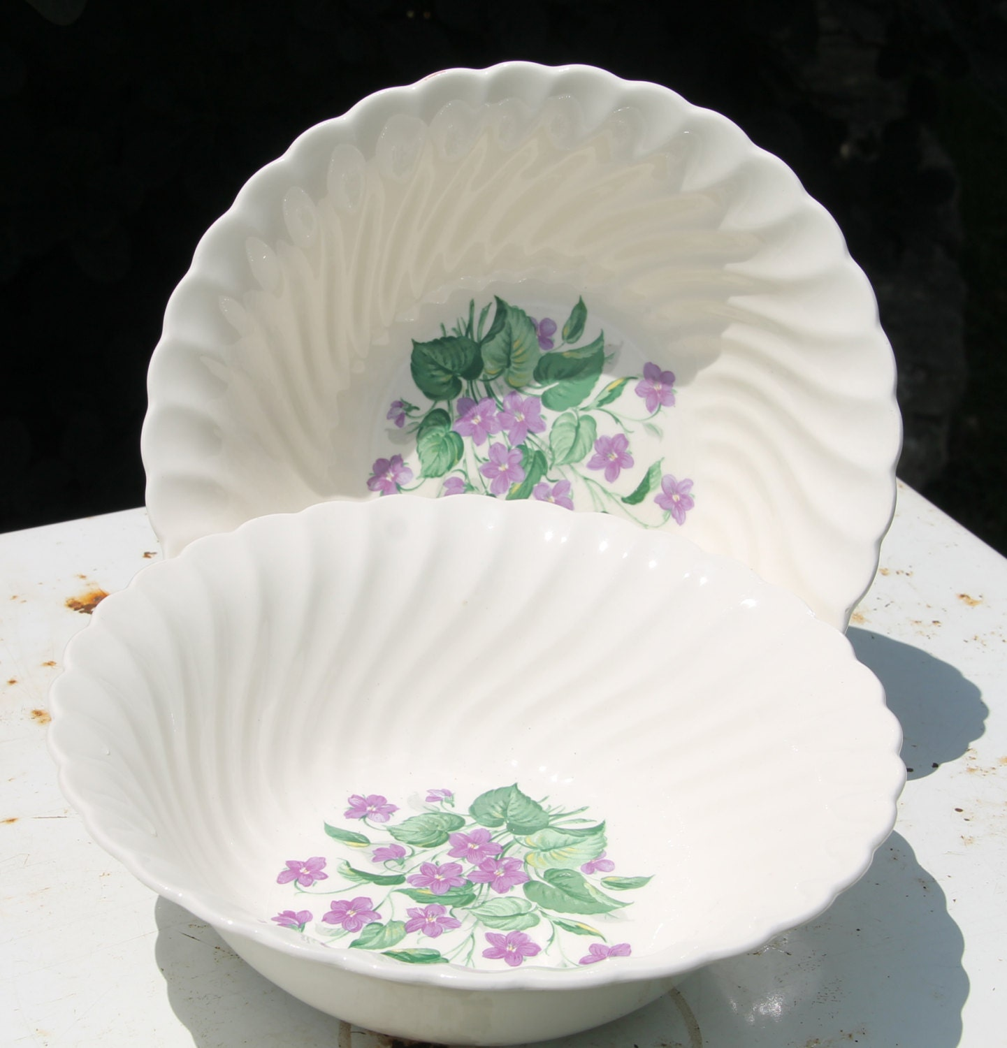gallery photo gallery photo gallery photo gallery photo gallery photo & Vintage Royal Violet China Serving Bowls by Royal China USA with ...