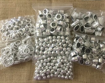 lot plastic jewelry scarf making Slides Connector, beads, rings, bails