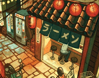 "Ramen in the Alley 11x17"" Art Print"